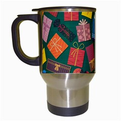 Presents Gifts Background Colorful Travel Mugs (white) by BangZart