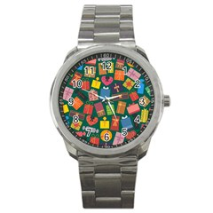 Presents Gifts Background Colorful Sport Metal Watch by BangZart