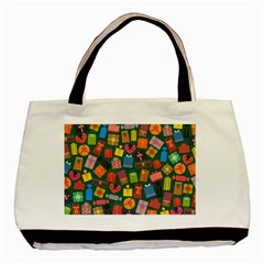 Presents Gifts Background Colorful Basic Tote Bag by BangZart