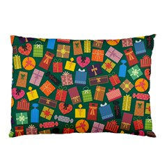 Presents Gifts Background Colorful Pillow Case by BangZart
