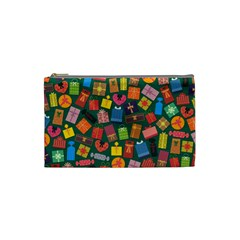 Presents Gifts Background Colorful Cosmetic Bag (small)  by BangZart