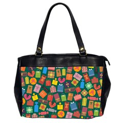 Presents Gifts Background Colorful Office Handbags (2 Sides)  by BangZart