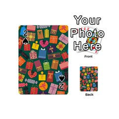 Presents Gifts Background Colorful Playing Cards 54 (mini)