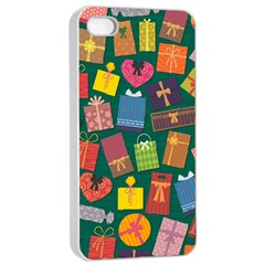 Presents Gifts Background Colorful Apple Iphone 4/4s Seamless Case (white) by BangZart