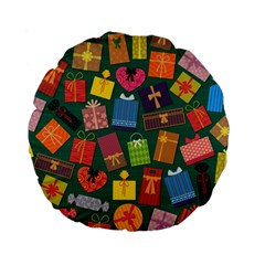 Presents Gifts Background Colorful Standard 15  Premium Round Cushions by BangZart