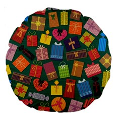 Presents Gifts Background Colorful Large 18  Premium Round Cushions