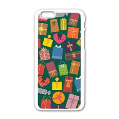 Presents Gifts Background Colorful Apple Iphone 6/6s White Enamel Case