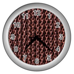 Chain Rusty Links Iron Metal Rust Wall Clocks (silver)  by BangZart