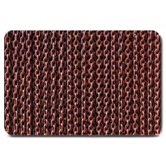 Chain Rusty Links Iron Metal Rust Large Doormat  by BangZart