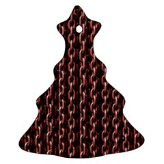 Chain Rusty Links Iron Metal Rust Christmas Tree Ornament (two Sides)