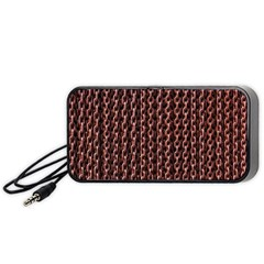 Chain Rusty Links Iron Metal Rust Portable Speaker (black)