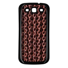 Chain Rusty Links Iron Metal Rust Samsung Galaxy S3 Back Case (black)