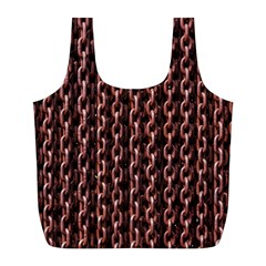 Chain Rusty Links Iron Metal Rust Full Print Recycle Bags (l)