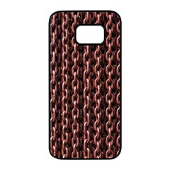 Chain Rusty Links Iron Metal Rust Samsung Galaxy S7 Edge Black Seamless Case