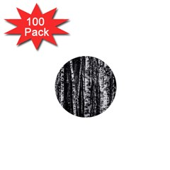 Birch Forest Trees Wood Natural 1  Mini Buttons (100 Pack)  by BangZart