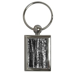 Birch Forest Trees Wood Natural Key Chains (rectangle)  by BangZart