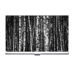 Birch Forest Trees Wood Natural Business Card Holders by BangZart