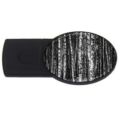 Birch Forest Trees Wood Natural Usb Flash Drive Oval (4 Gb) by BangZart