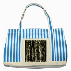 Birch Forest Trees Wood Natural Striped Blue Tote Bag
