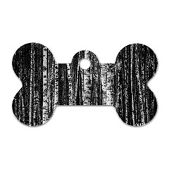 Birch Forest Trees Wood Natural Dog Tag Bone (one Side) by BangZart
