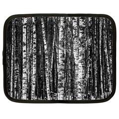 Birch Forest Trees Wood Natural Netbook Case (large)