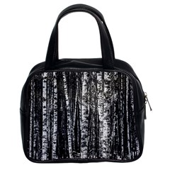 Birch Forest Trees Wood Natural Classic Handbags (2 Sides)