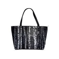 Birch Forest Trees Wood Natural Shoulder Handbags by BangZart