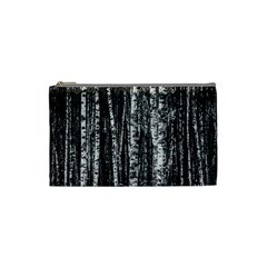 Birch Forest Trees Wood Natural Cosmetic Bag (small)  by BangZart