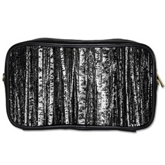 Birch Forest Trees Wood Natural Toiletries Bags by BangZart