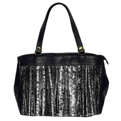 Birch Forest Trees Wood Natural Office Handbags (2 Sides)  by BangZart