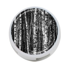 Birch Forest Trees Wood Natural 4 Port Usb Hub (one Side) by BangZart