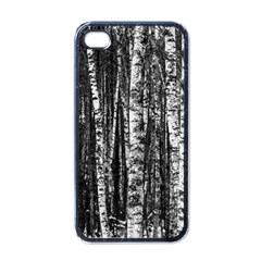 Birch Forest Trees Wood Natural Apple Iphone 4 Case (black)
