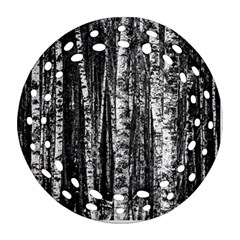 Birch Forest Trees Wood Natural Ornament (round Filigree) by BangZart