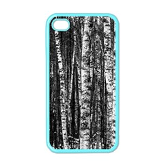 Birch Forest Trees Wood Natural Apple Iphone 4 Case (color) by BangZart