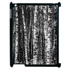 Birch Forest Trees Wood Natural Apple Ipad 2 Case (black) by BangZart