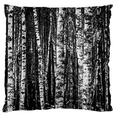 Birch Forest Trees Wood Natural Large Cushion Case (two Sides) by BangZart