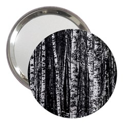 Birch Forest Trees Wood Natural 3  Handbag Mirrors