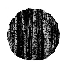 Birch Forest Trees Wood Natural Standard 15  Premium Round Cushions by BangZart