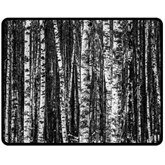 Birch Forest Trees Wood Natural Double Sided Fleece Blanket (medium)