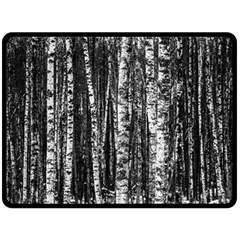 Birch Forest Trees Wood Natural Double Sided Fleece Blanket (large)  by BangZart