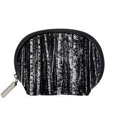 Birch Forest Trees Wood Natural Accessory Pouches (small)  by BangZart