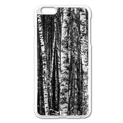 Birch Forest Trees Wood Natural Apple Iphone 6 Plus/6s Plus Enamel White Case by BangZart