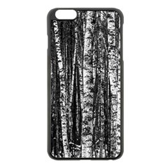 Birch Forest Trees Wood Natural Apple Iphone 6 Plus/6s Plus Black Enamel Case by BangZart