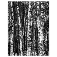 Birch Forest Trees Wood Natural Drawstring Bag (large) by BangZart