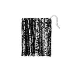 Birch Forest Trees Wood Natural Drawstring Pouches (xs)