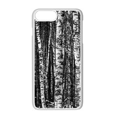 Birch Forest Trees Wood Natural Apple Iphone 7 Plus White Seamless Case by BangZart
