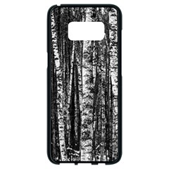 Birch Forest Trees Wood Natural Samsung Galaxy S8 Black Seamless Case by BangZart