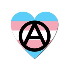 Anarchist Pride Heart Magnet by TransPrints