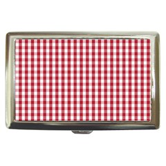 Usa Flag Red Blood Large Gingham Check Cigarette Money Cases by PodArtist