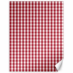 Usa Flag Red Blood Large Gingham Check Canvas 12  X 16   by PodArtist